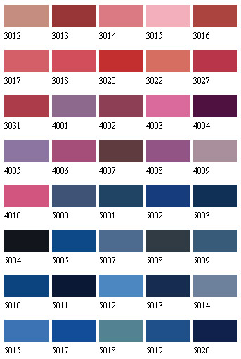 Floor Paint Colour Selection Charts Provided To Help You Select The Best Floor Paint Colour For Your Project To The Internationally Recognised Ral And Bs4800 Colour Standards