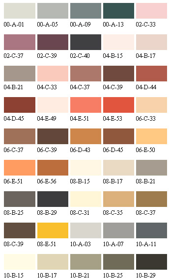 Select Floor Paint Colours to BS4800 Standard