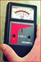 Floor surface moisture content testing equipment