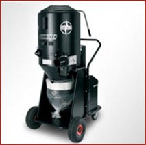 Vacuum blastcleaning machine – dust extraction